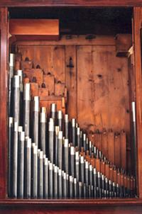 Russell Chamber Organ - Internal Pipes